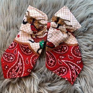 Handmade western hair bow